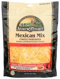Andrew and Everett Mexican Shredded Cheese 8oz