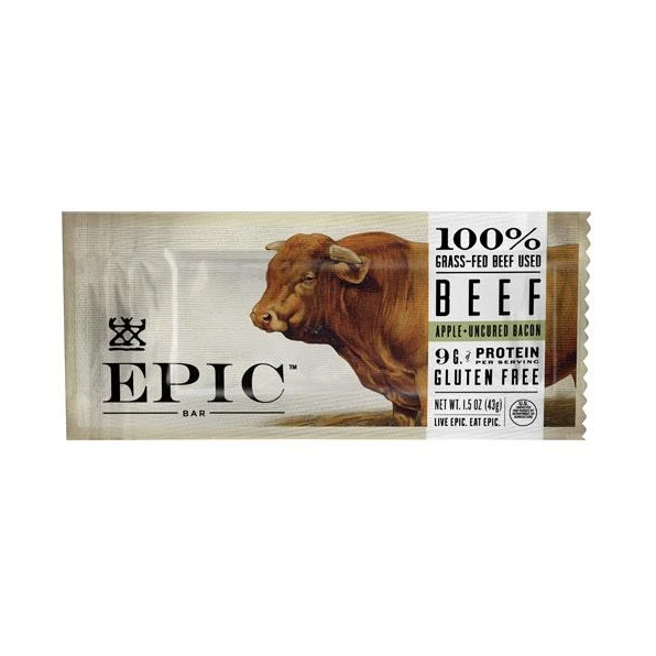 Epic Beef Jerky Bar, Apple and Bacon