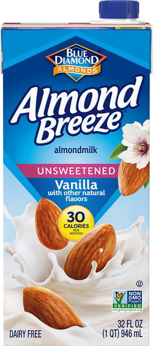 Almond Breeze Vanilla Unsweetened Almond Milk 32oz