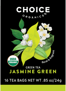 Choice Tea Organic Green Jasmine Tea 16ct
