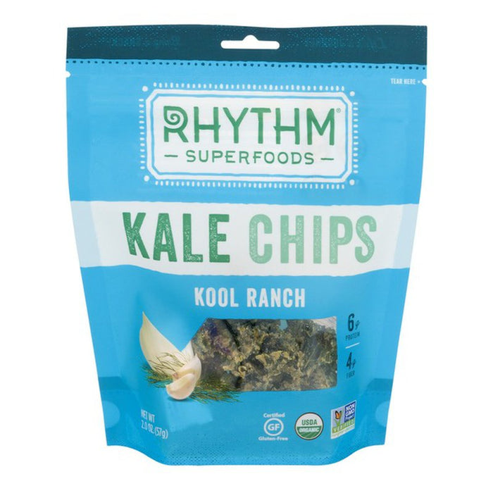 Rhythm Superfoods Kale Chips Kool Ranch (Nondairy) 2oz