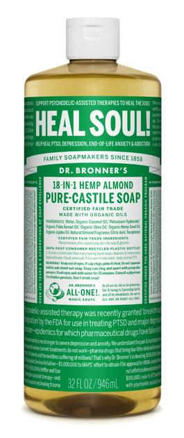 Dr. Bronner's Castile Liquid Soap Almond 32oz