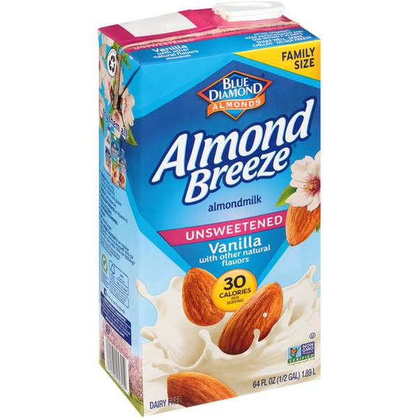 Almond Breeze Original Unsweetened Vanilla Almond Milk 64oz
