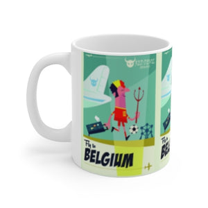 MUG EN CÉRAMIQUE FLY TO BELGIUM FOOTBALL