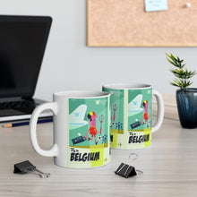 Charger l'image dans la galerie, MUG EN CÉRAMIQUE FLY TO BELGIUM FOOTBALL