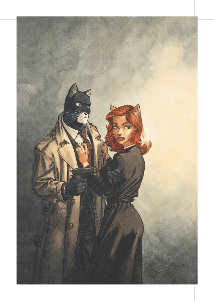 BLACKSAD COUPLE CARTE POSTALE
