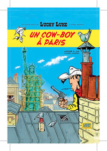 CARTE POSTALE UN COW-BOY À PARIS