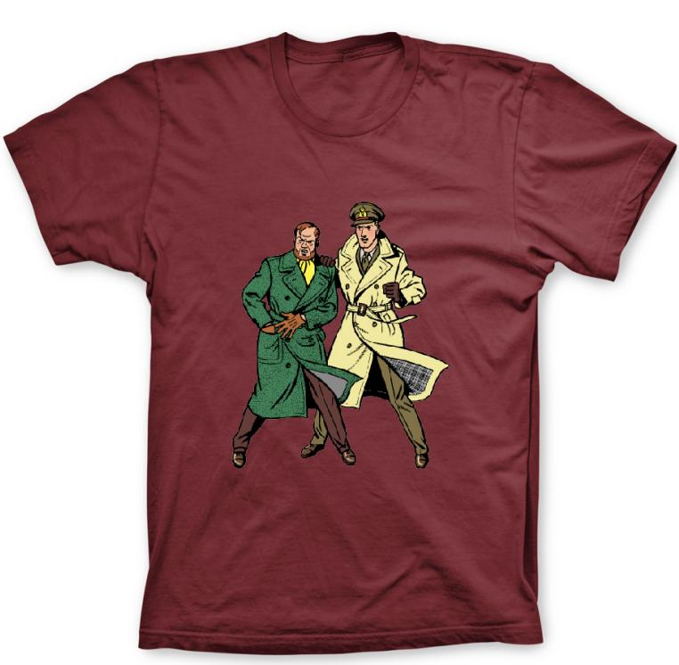 T-SHIRT BORDEAUX BLAKE ET MORTIMER DUO