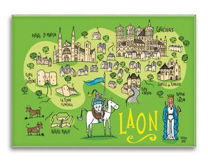 MAGNET GRAND FORMAT LAON CARTE