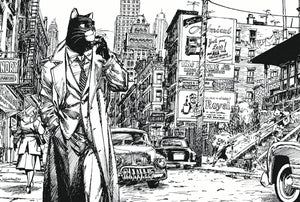 CARTE POSTALE BLACKSAD BLACK AND WHITE