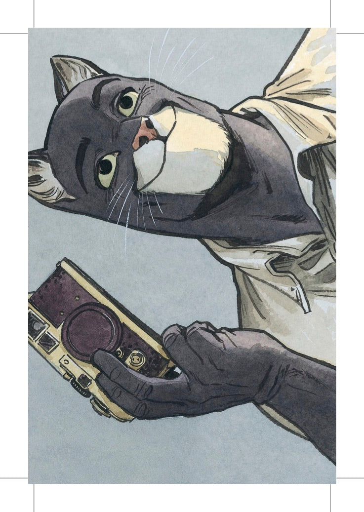 CARTE POSTALE BLACKSAD PHOTOGRAPHE