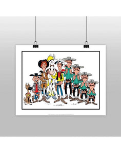 AFFICHE PERSONNAGES LUCKY LUKE