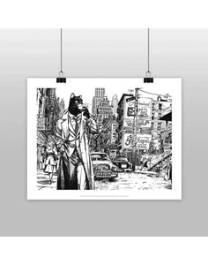 Affiche BLACKSAD Black and White