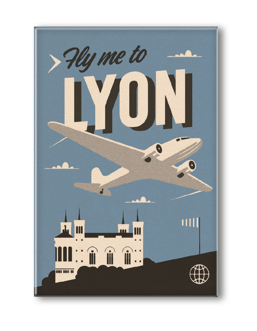 MAGNET FLY ME TO LYON
