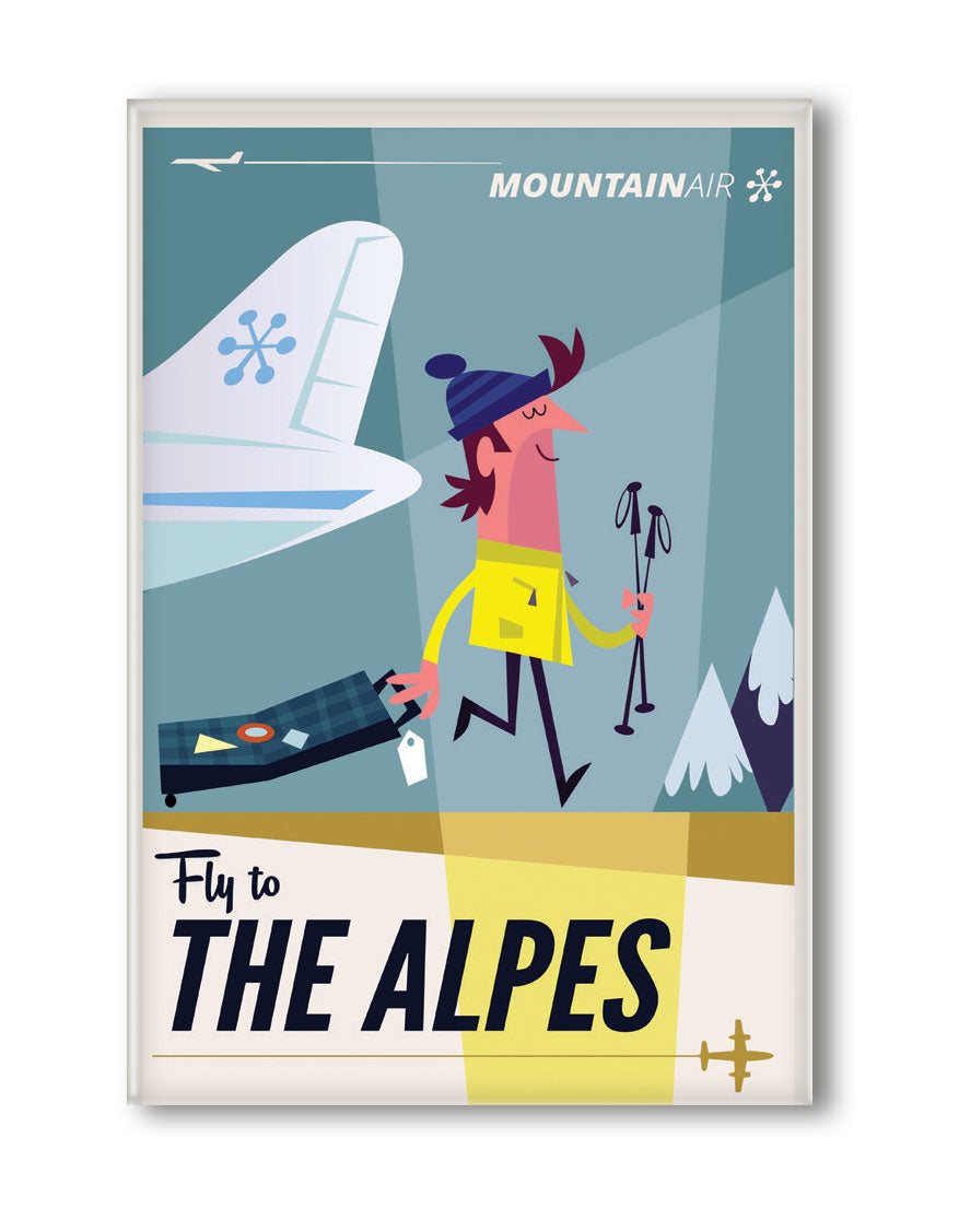MAGNET FLY TO THE ALPES