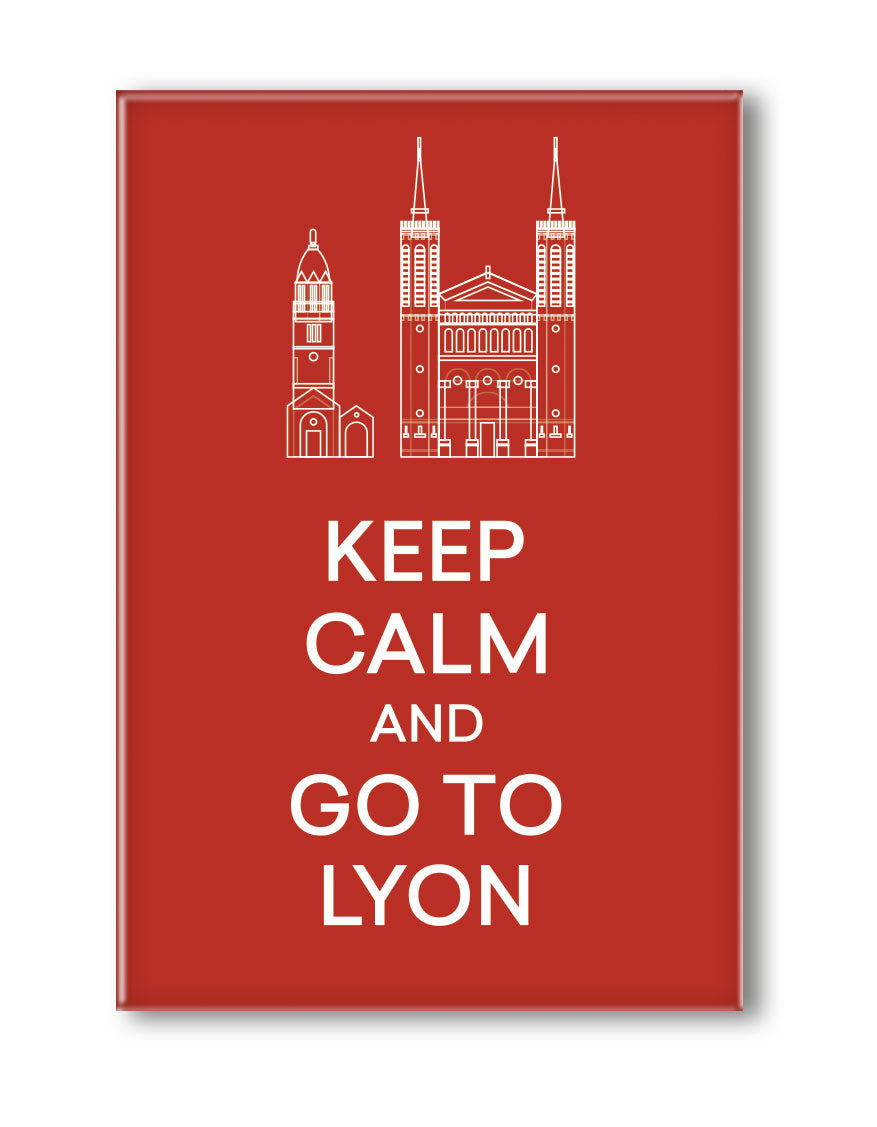 MAGNET KEEP CALM AND GO TO LYON
