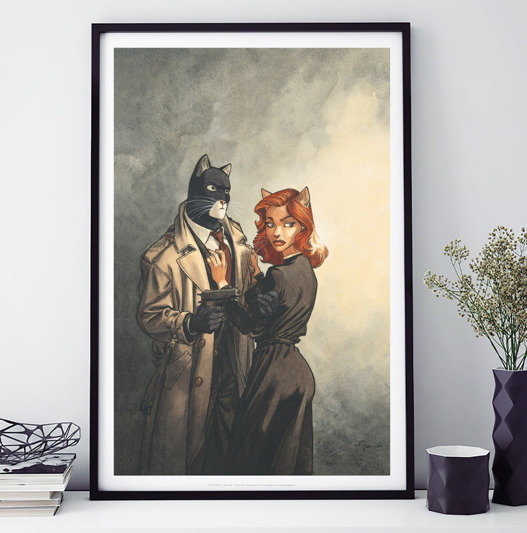 Affiche 60 cm par 40 cm Blacksad Couple