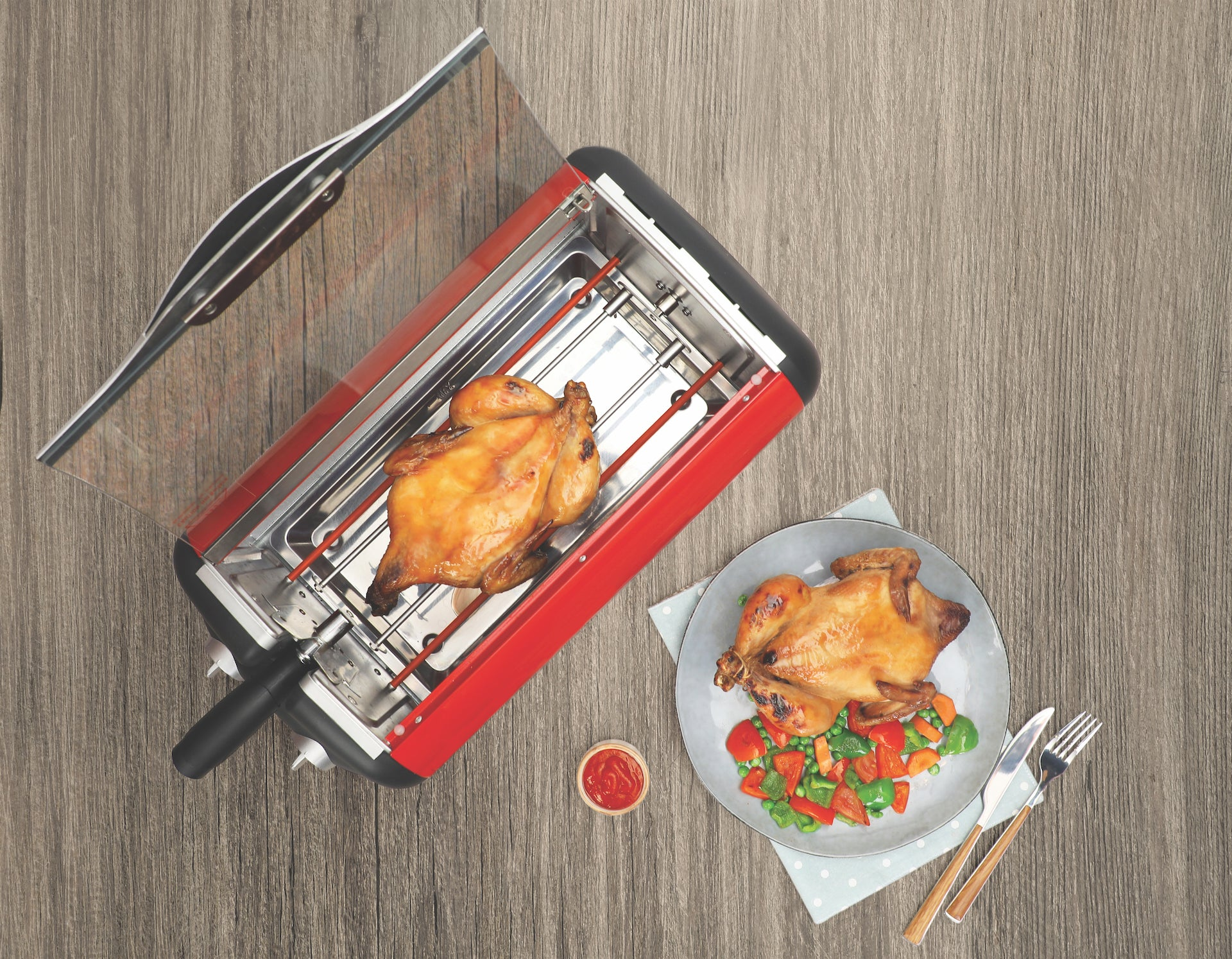 Full Chicken Rotisserie Grill