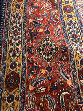 "Load image into Gallery viewer, Persian Birjand [Wool + Silk] - 12'8"" x 19'5"""