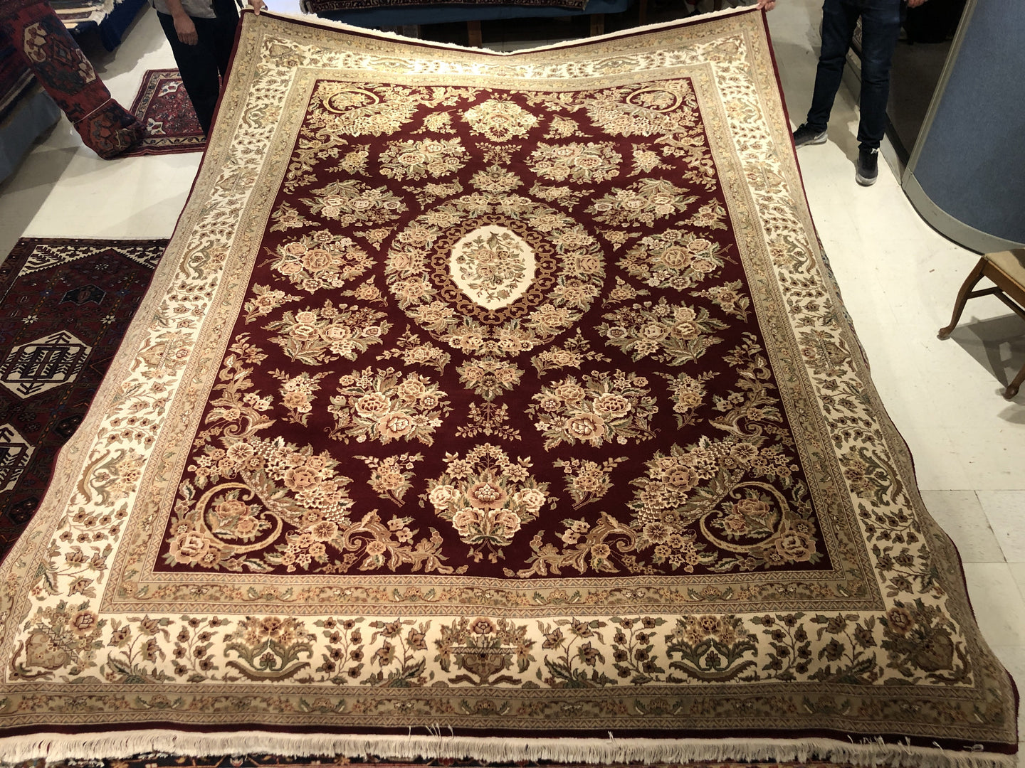 Indian Sarouk [Wool + Silk] - 8x10 / 8x11