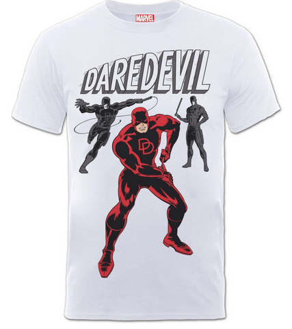 Daredevil - Men's Poses White T-Shirt - BAY 57