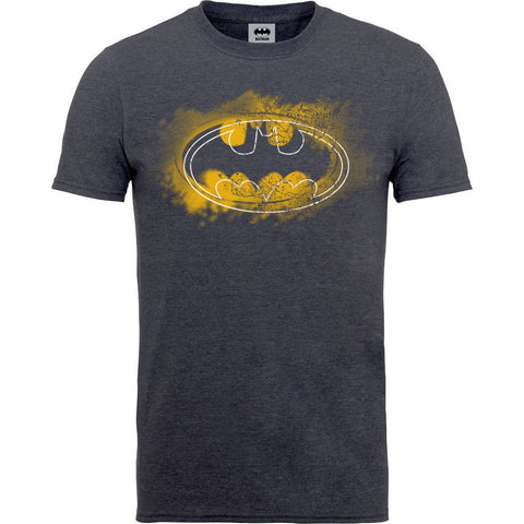 Batman - Spray Logo Tweed T-Shirt - BAY 57
