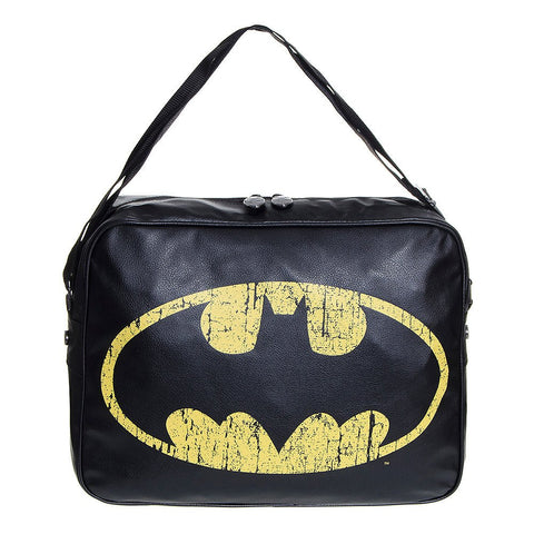 Batman Distressed Logo Messenger Bag - BAY 57