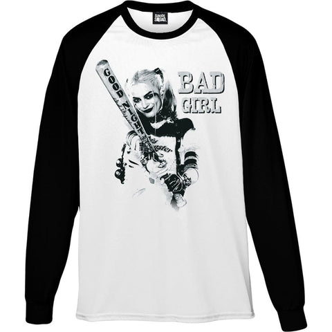 Suicide Squad - Bad Girl Official Unisex Baseball Longsleeve Tee - BAY 57