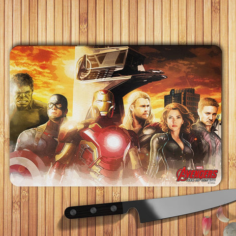Avengers Age Of Ultron Team Sunset Glass Worktop Saver - BAY 57