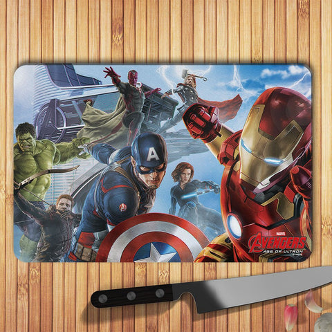 Avengers Age Of Ultron Team Sky Glass Worktop Saver - BAY 57