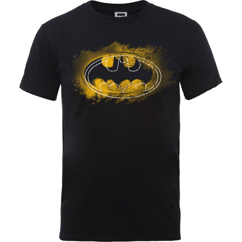 Batman - Spray Logo Black T-Shirt - BAY 57
