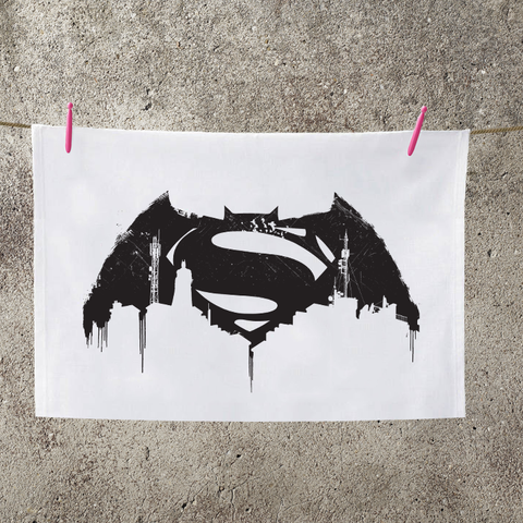 Batman V Superman City Logo Tea Towel - BAY 57