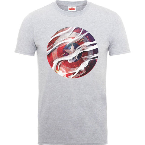 Captain America - Civil War Heather Grey Smoke Shield T-Shirt - BAY 57