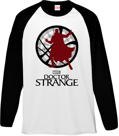 Marvel Dr Strange Silhouette Men's Baseball T-Shirt - BAY 57  - 1