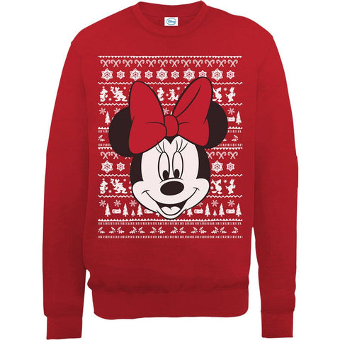 Disney Minnie Mouse Women's Ugly Christmas Sweatshirt - BAY 57