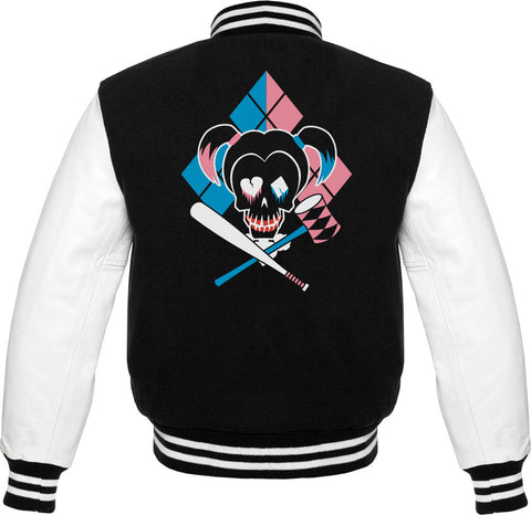Suicide Squad Harley Quinn Icon Men's Varsity Jacket - BAY 57  - 1