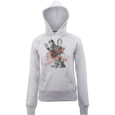 Star Wars Rogue One Join The Rebellion Women's Hoodie - BAY 57  - 1