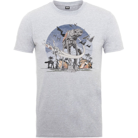 Star Wars Rogue One AT-AT Scarif Men's T-Shirt - BAY 57