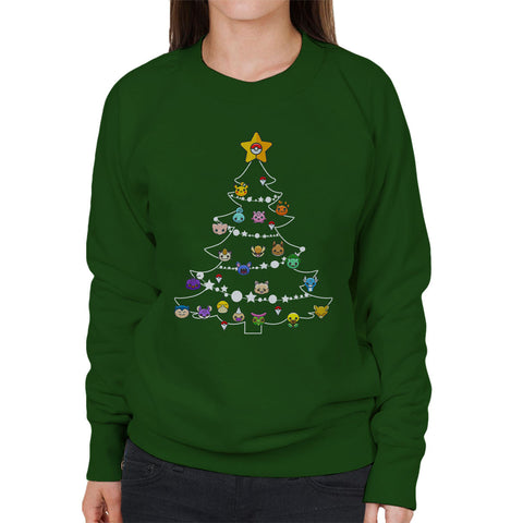 Pokemon Bulbs Christmas Tree Parody Women's Sweatshirt - BAY 57