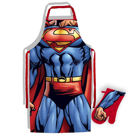 Superman DC Comics Classic Torso Apron and Glove Set - BAY 57