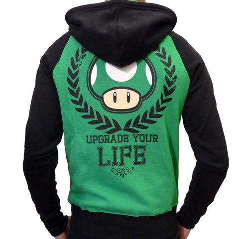 Nintendo 1Up Upgrade Your Life Hoodie - BAY 57