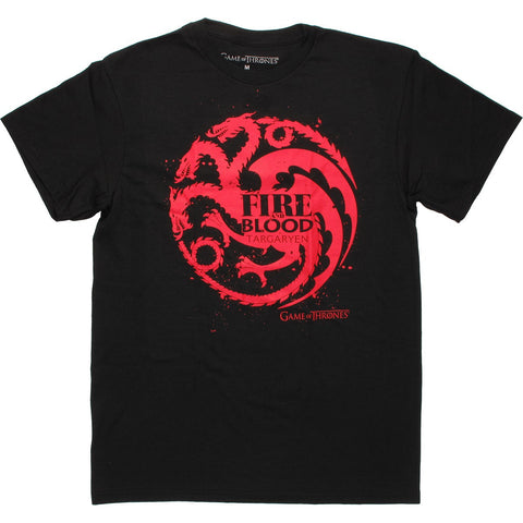 Game Of Thrones Fire & Blood Targaryen Men's T-Shirt - BAY 57