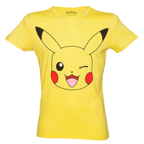 Pokemon Pikachu Print Yellow Men's T-Shirt - BAY 57