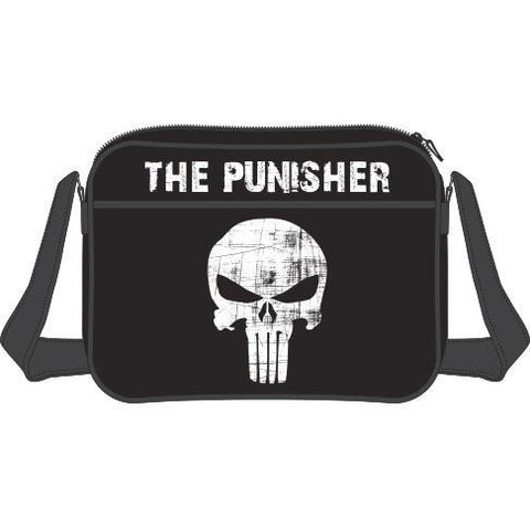The Punisher, Skull Messenger Bag, Black - BAY 57