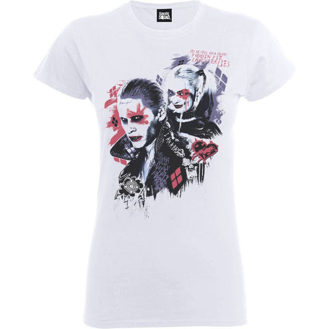 Suicide Squad - Harleys Puddin Ladies White T-Shirt - BAY 57