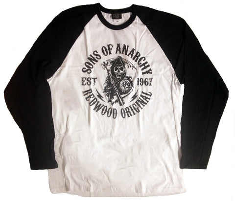Sons Of Anarchy Men's Baseball T-Shirt - BAY 57