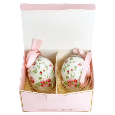 北欧インテリア雑貨 GREENGATE グリーンゲイト Decorative egg Meryl white set of 2 hanging