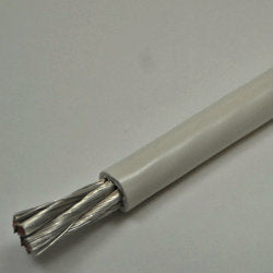 6 AWG Battery Cable Tinned Marine Grade Wire White by the foot