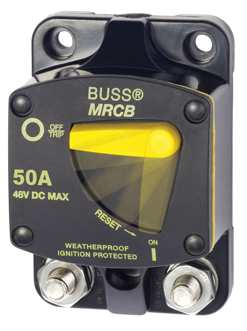 Marine Rated Circuit Breaker - Bussmann 187 Series MRCB Surface Mount 50 Amp