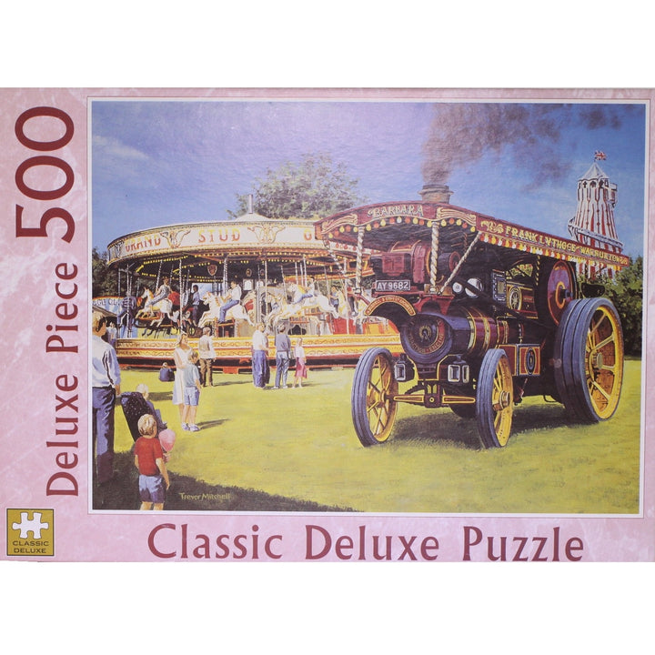 Here Comes the Fair Steam Engine Jigsaw Puzzle